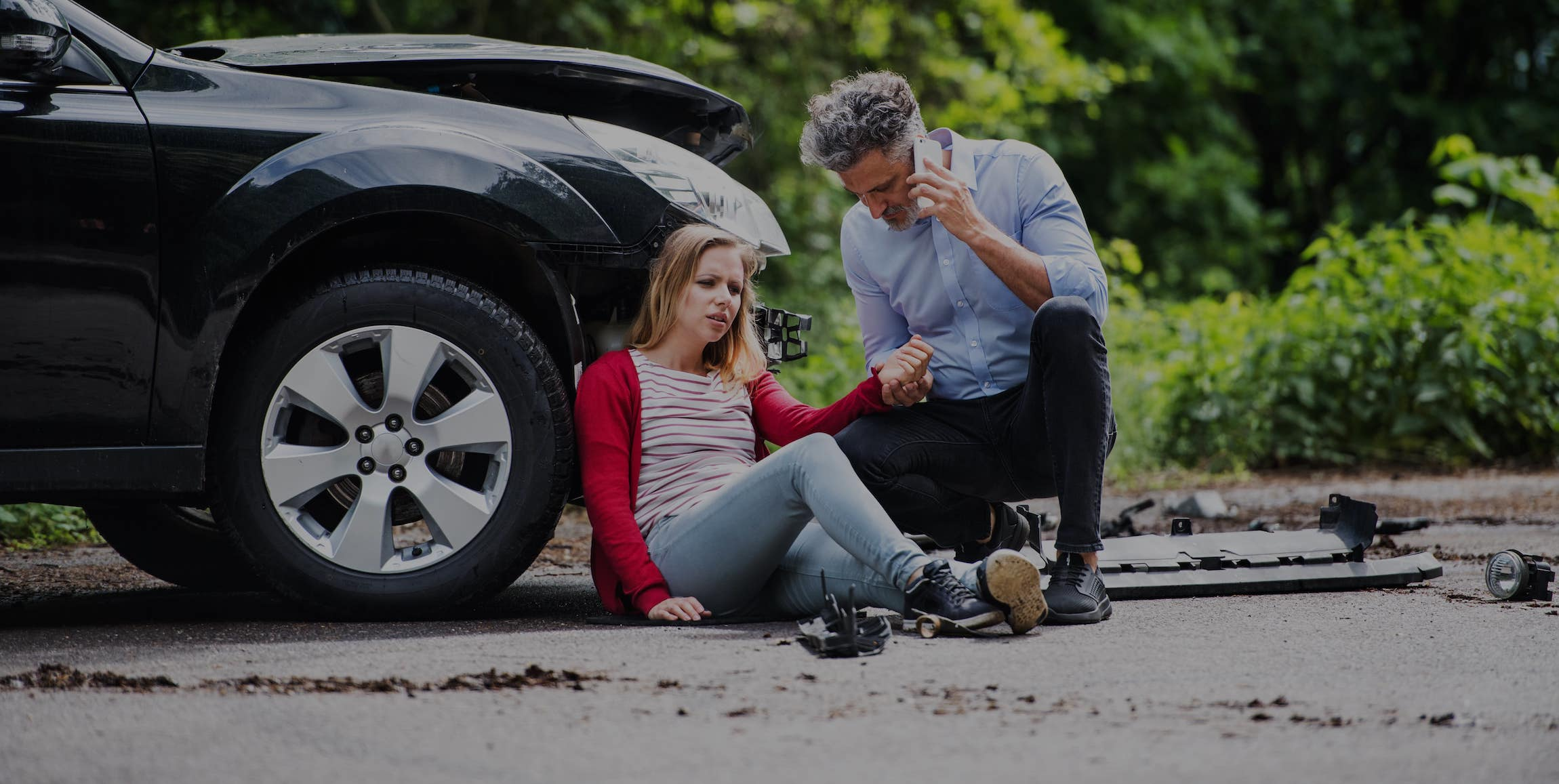 auto accident people on the phone Charlotte lawyer
